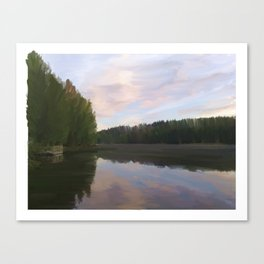 A Lake in Finland Canvas Print
