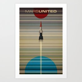 MarsUnited Liftoff Art Print