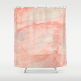 Dramaqueen - Pink Marble Poster Shower Curtain