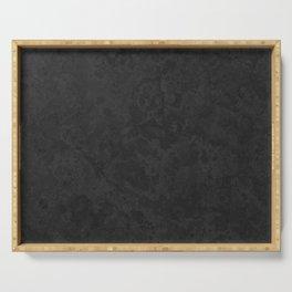Marble Granite - Classic Sleek Slate Charcoal Black Serving Tray