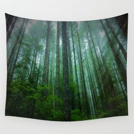 Misty Mountain Forest Wall Tapestry