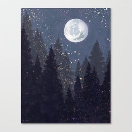 Full Moon Landscape Canvas Print