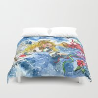 angel Duvet Covers featuring Angel by Shelley Ylst Art