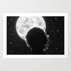 Exaggerated Night Sky Art Print