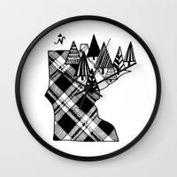 minnesota Wall Clocks featuring Minnesota Love by cmbringle