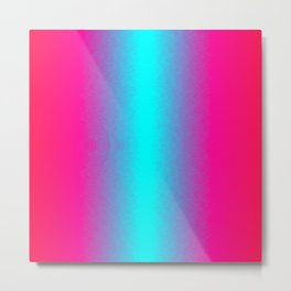 Red, pink, purple, blue and cyan ombre flame Metal Print