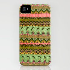 Pink and Green Pattern iPhone (4, 4s) Slim Case