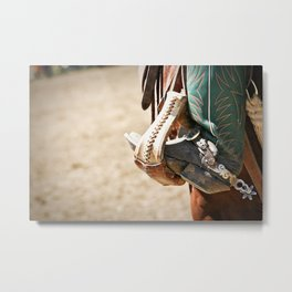 Give 'Em the Boot Metal Print