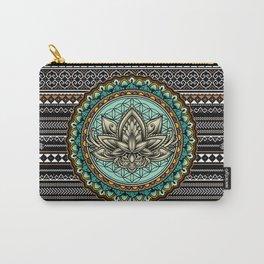 Lotus Mandala Pattern Carry-All Pouch