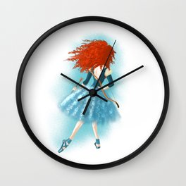 Red - Haired Lass Wall Clock