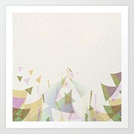 #Retro flying  #triangles Art Print