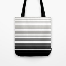 Bay Ombre Stripe: Gray Black Tote Bag