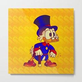 Uncle Scrooge - Ducktales Metal Print