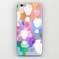 hot air balloons iPhone & iPod Skins featuring Hot air balloons by Ingrid Castile