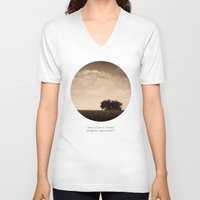 inspirational V-neck T-shirts featuring Inspirational by mJdesign