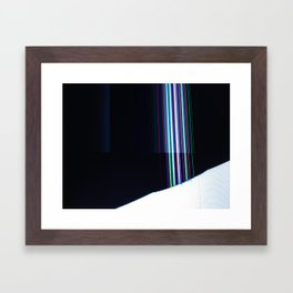 Cracked LCD #2 Framed Art Print