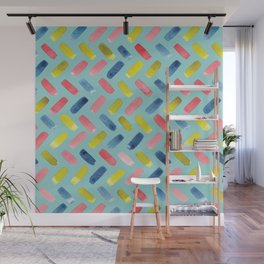 Watercolour Houndstooth Pattern | Original Colours Wall Mural