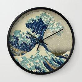Ukiyo-e, Under the Wave off Kanagawa, Katsushika Hokusai Wall Clock
