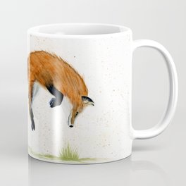 Jumping Jack Fox - animal watercolor painting Coffee Mug