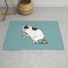 Coffee makes French Bulldog poop Rug