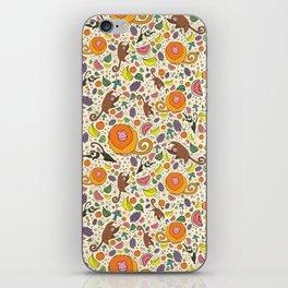Cute Jungle and Monkeys iPhone Skin