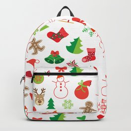 Happy New Year and Christmas Symbols Decoration Backpack