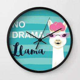 Llama , No Drama Wall Clock