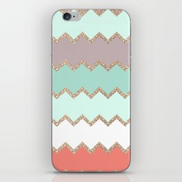 AVALON CORAL MINT iPhone Skin