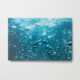 Abstract Bubbles in Water, Air Bubbles Water Background Metal Print