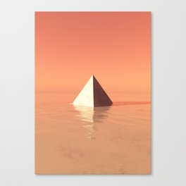 Monument Valley | Minimal Digital Art Canvas Print