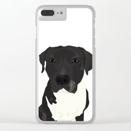 Atticus the Pit Bull Clear iPhone Case