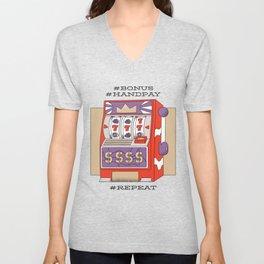 Slot Machines Unisex V-Neck