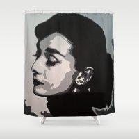 audrey Shower Curtains featuring Audrey by AUSKMe2Paint