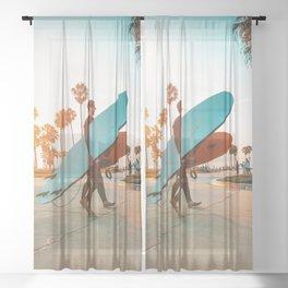 Surfers Sheer Curtain