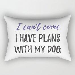 Home with my Dog Rectangular Pillow