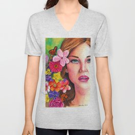 'A New Day' - Watercolour Painting Unisex V-Neck