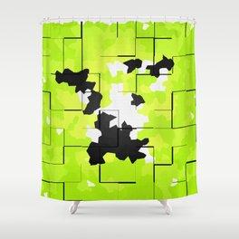 NATURE ISLAND TEXTURE Shower Curtain