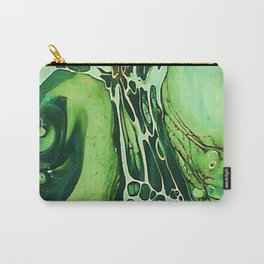 Tint Blot - Cracked Glass Green Carry-All Pouch