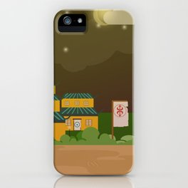 Four houses in the night iPhone Case