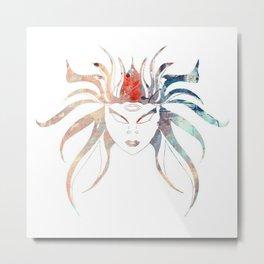 Watercolor Medusa Metal Print
