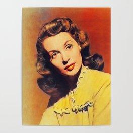 Lilli Palmer, Vintage Actress Poster