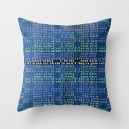 These Waters Once Warm Throw Pillow