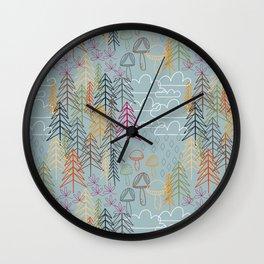 A Rainy Wood Wall Clock