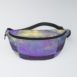 Abstract Silver Stiched canvas Fanny Pack
