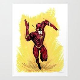 Flash. The fastest man alive Art Print