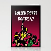 roller derby Stationery Cards featuring Roller derby xx by Andrew Mark Hunter