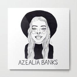 Azealia Banks Metal Print