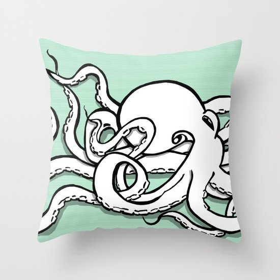 8 Arms in Motion V2 Throw Pillow