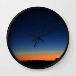 Sunset with Mars Wall Clock