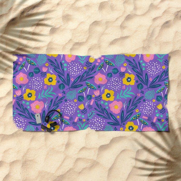Flora Delight Beach Towel
